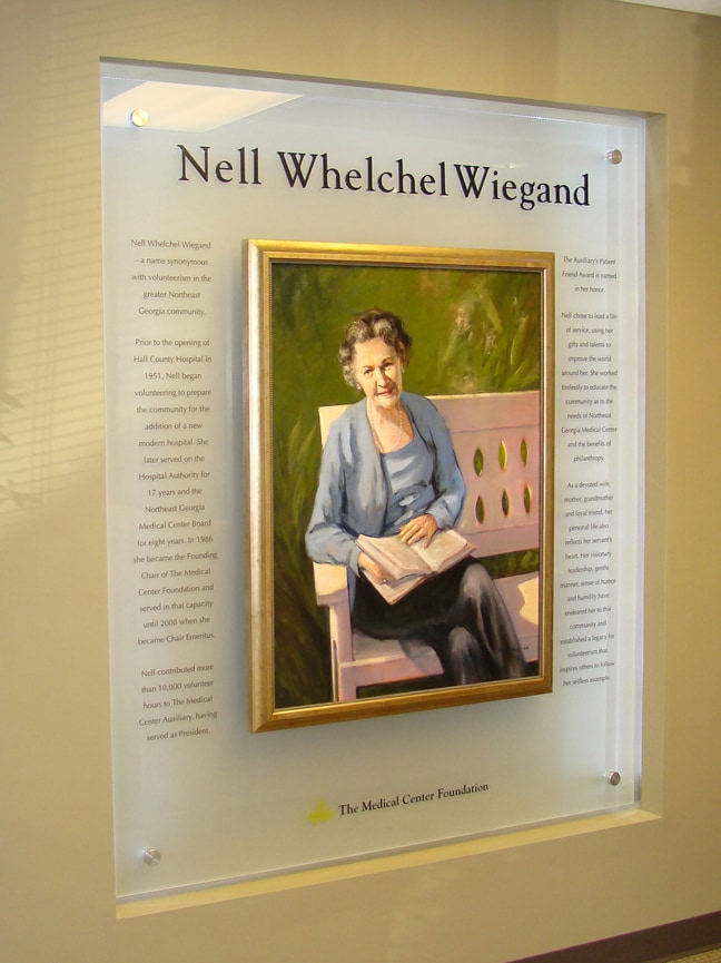 Northeast Georgia Medical Center - Nell Whelchel Wiegand Donor Plaque