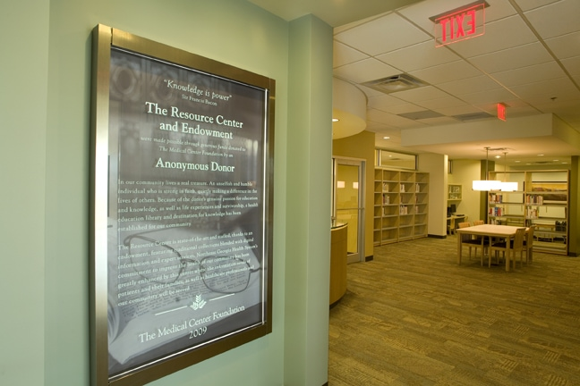 Northeast Georgia Medical Center - Resource Donor Plaque