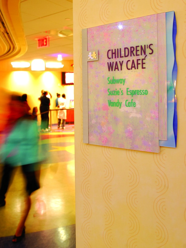 Vanderbilt Children's Hospital - Area Identification Plaque