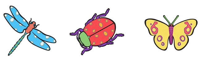 Vanderbilt Children's Hospital - Bugs Illustrations