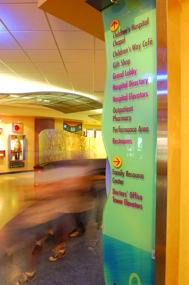 Vanderbilt Children's Hospital - Interior Freestanding Directory Pylon
