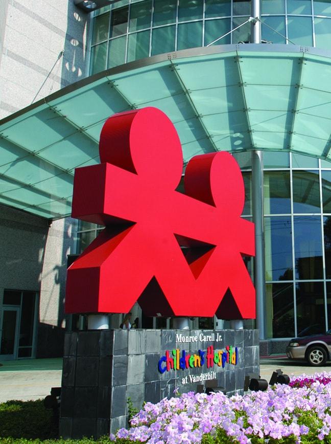 Vanderbilt Children's Hospital - Exterior Logo Sculpture and Identification Monument