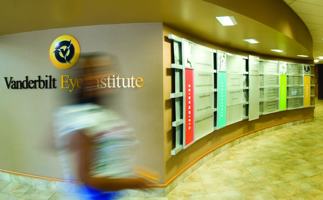 Vanderbilt Eye Institute - Donor Recognition Wall Mounted Logo - Person