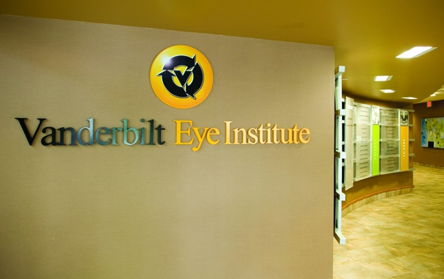 Vanderbilt Eye Institute - Donor Recognition Wall Mounted Logo