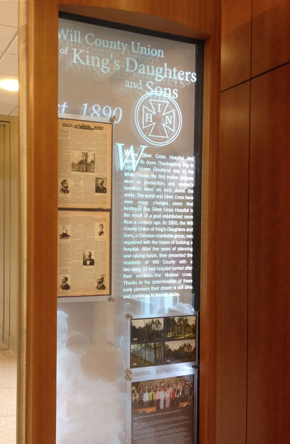 Silver Cross Hospital - Donor Recognition Legacy Hall Screen