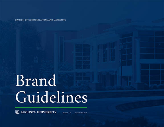Augusta University_Cover for AU Brand Guidelines_012116