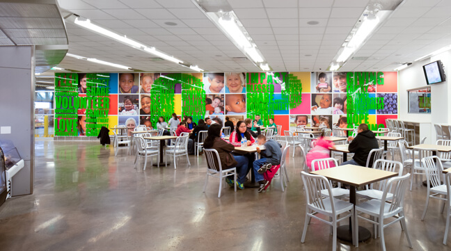 HFB_Houston Food Bank_Cafe Room Wall Graphics