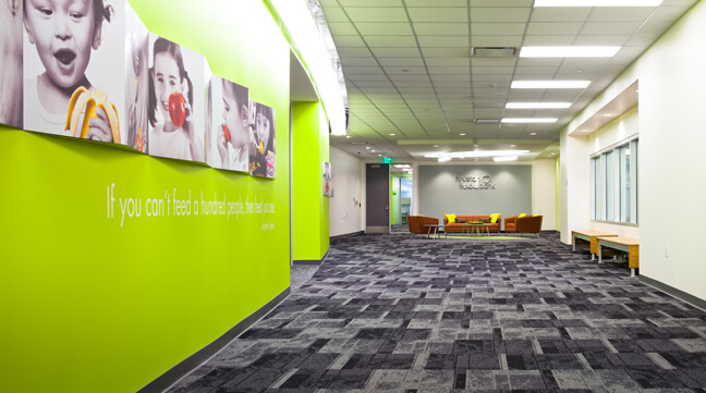HFB_Houston Food Bank_Conference Center Corridor Wall Graphics