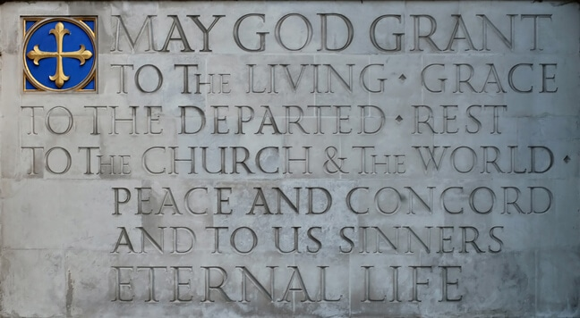 Co-Cathedral of the Sacred Heart | Houston, Texas - CCSH_Carved Text
