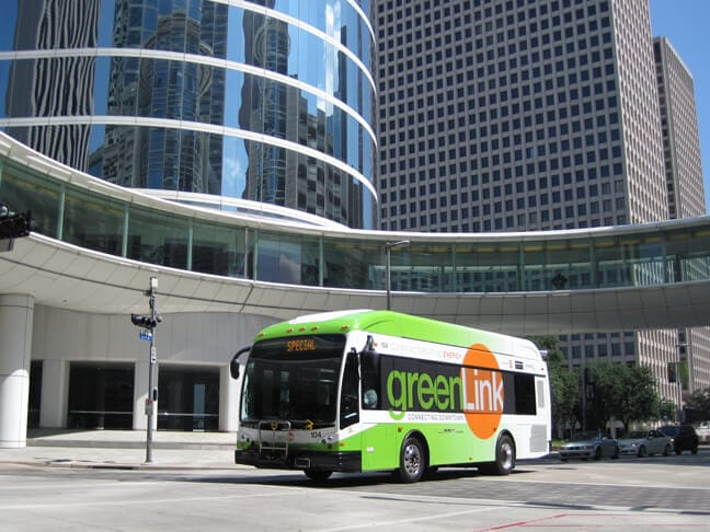 HDMD_Houston Downtown Management District GreenLink_Bus Front Side 3