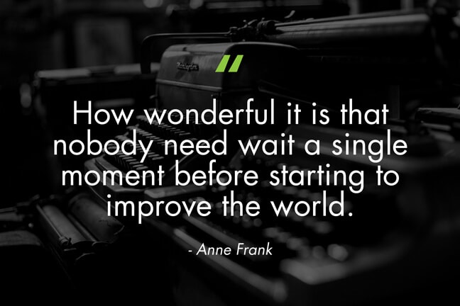 HFB_Houston Food Bank_Typewriter Anne Frank-Quote