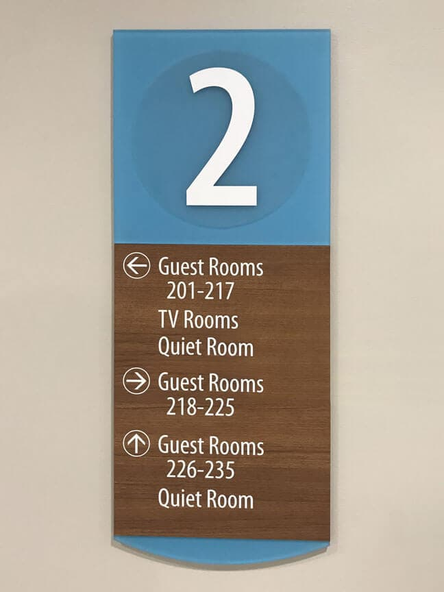 RMH - Ronald McDonald House Houston_ELD - Elevator Lobby Directory