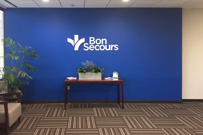 BSG_Bon Secours Greenville - Interior Wall Mounted Logo