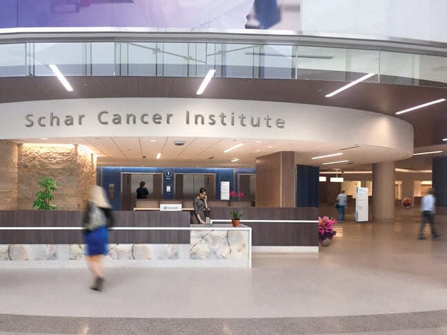 ISCI_Inova Schar Cancer Institute_Entrance Lobby