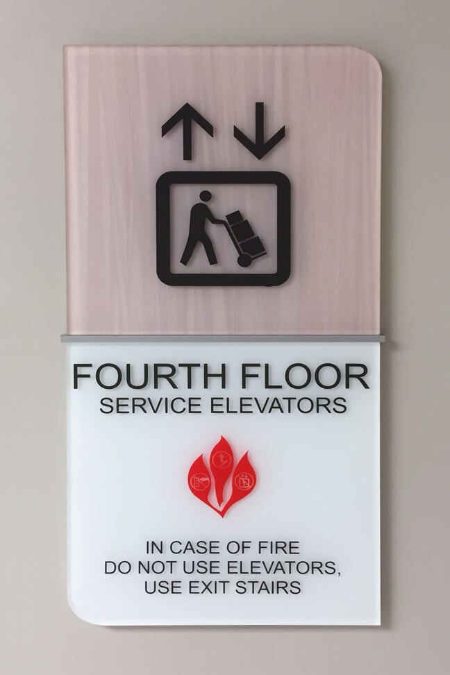 Orlando Regional Medical Center_SEP Service Elevator Plaque