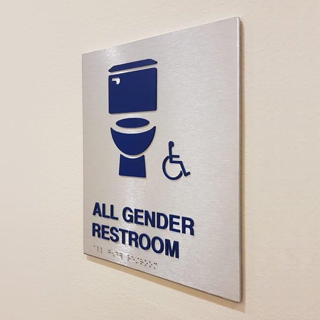 RU_Rice University Gender Inclusive_RRP.G Restroom Plaque