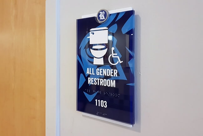 RU_Rice University Gender Inclusive_RRP.K Restroom Plaque