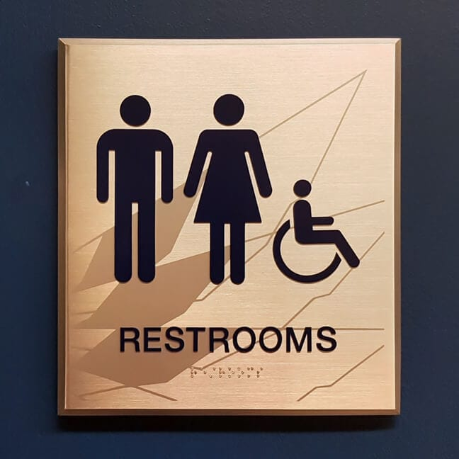 RU_Rice University Gender Inclusive_RRP.Y Restroom Plaque