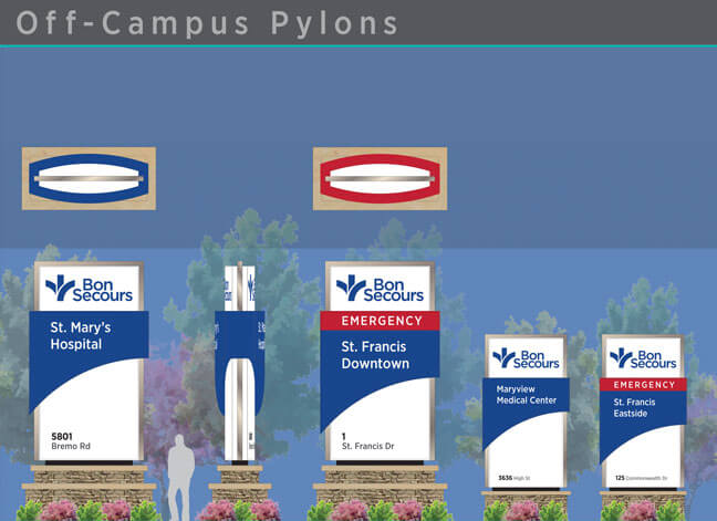Bon Secours - Off Campus Pylons
