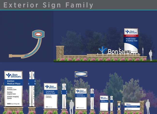 Bon Secours - Exterior Sign Family
