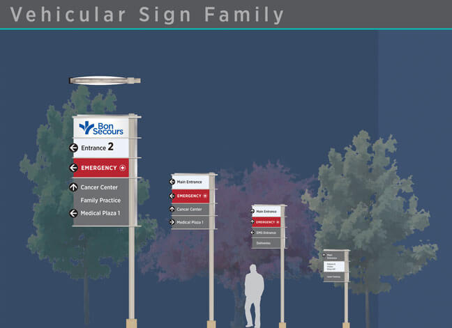Bon Secours - Vehicular Sign Family 1