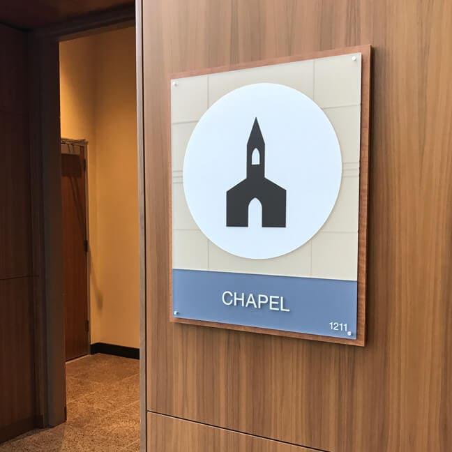 HMWH_Houston Methodist The Woodlands Hospital - AIP Area Identification Plaque - Chapel
