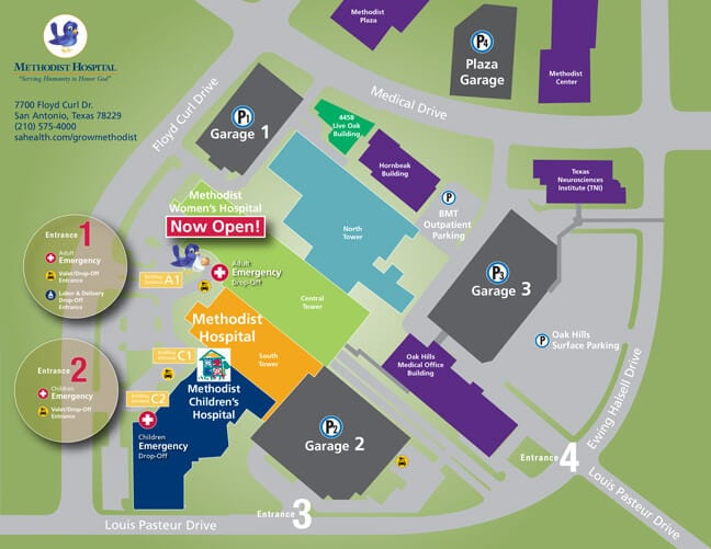 Methodist Healthcare San Antonio - Visitor Campus Map