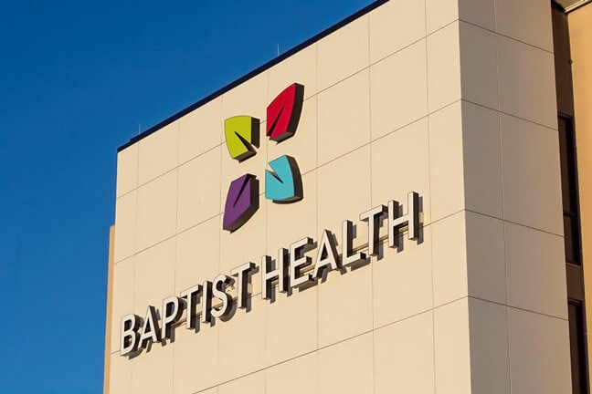 Baptist Health Richmond - Building Mounted logo (BML)