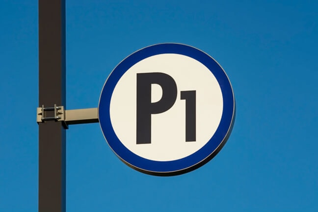 Baptist Health - Parking Sign