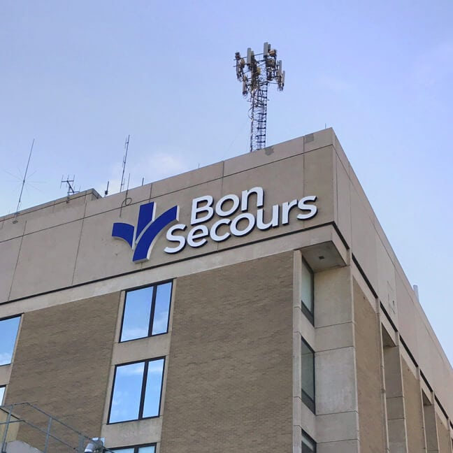 Bon Secours Maryview Medical Center - Building Mounted Logo