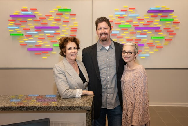 Ronald McDonald House Houston - Donor Recognition Wall: FMG Team: Mary R. Grems, Ryan Keene, Ashley Ayres (Left to right)