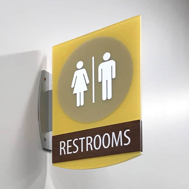 Ronald McDonald House Houston - Projecting Flag Sign Restrooms