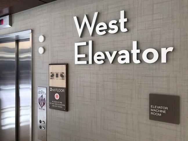 Houston Methodist Baytown Hospital - Interior Elevator Lobby