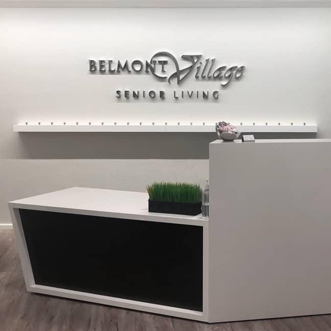 Belmont Village Senior Living - Corporate Interior Wall Graphics
