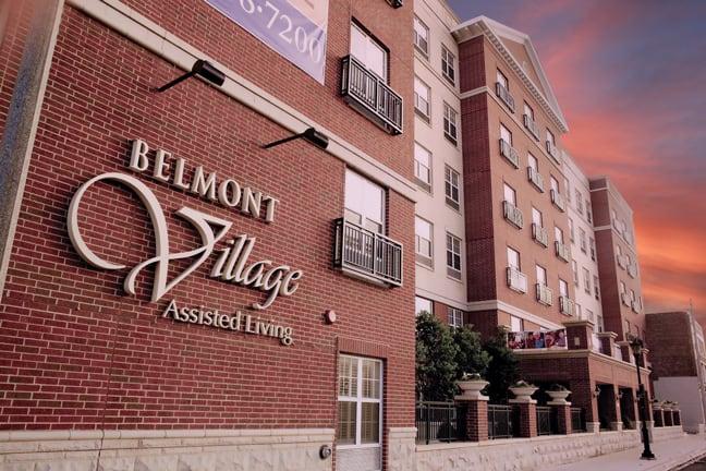 Belmont Village Senior Living - Oak Park - Exterior Building Mounted Logo BM