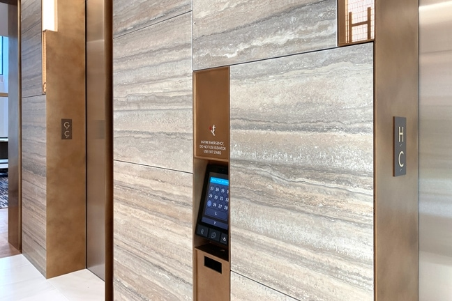 Indeed Tower - Interior Elevator Code Plaque (Digital) Cab/Jamb ID