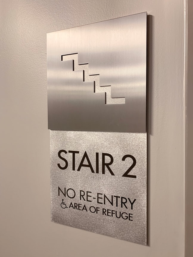Indeed Tower - Interior Stair Identification Plaque