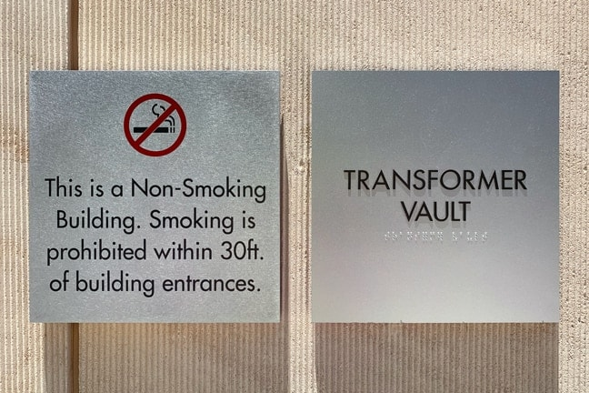 Indeed Tower - Non-Smoking and-Tertiary Room Plaque