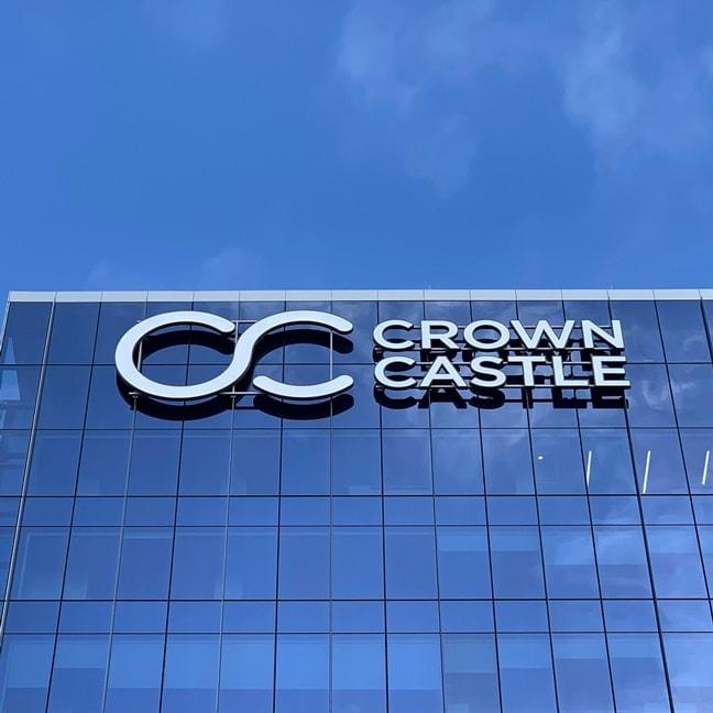 Crown Castle Headquarters - Exterior Building Mounted Logo