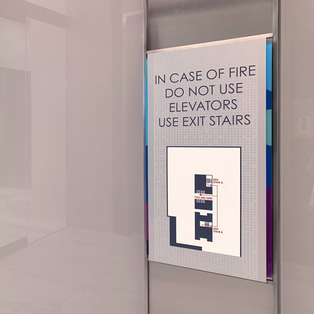 Crown Castle Headquarters - Interior Elevator Code Plaque