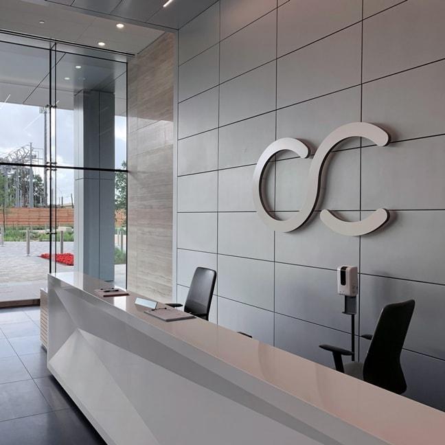 Crown Castle Headquarters - Interior Logomark