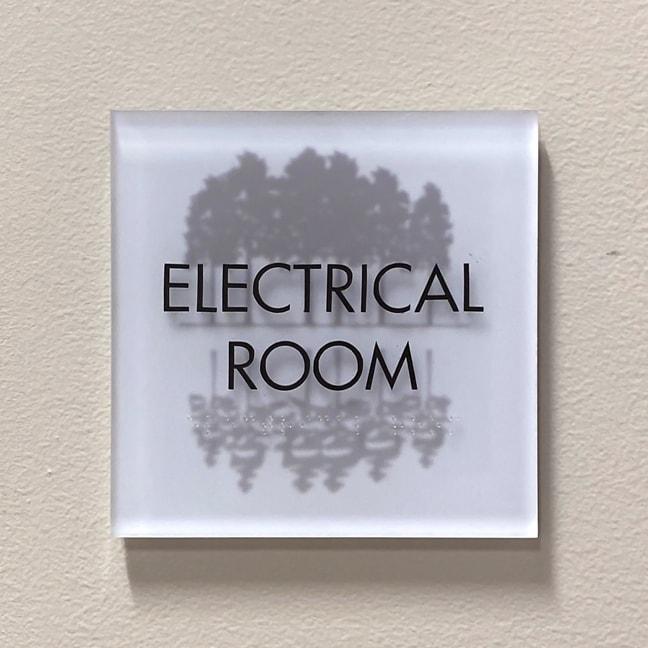 Research Forest Lakeside - Interior Secondary Room Plaque: Electrical Room